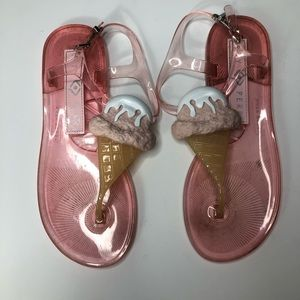 Katy Perry Strawberry ice cream sandals